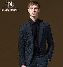 Men Formal Suits Blazers Autumn Winter Young Man Warm Slim Single Button Blue Business Wedding Groom Party Christmas Blazer Gift