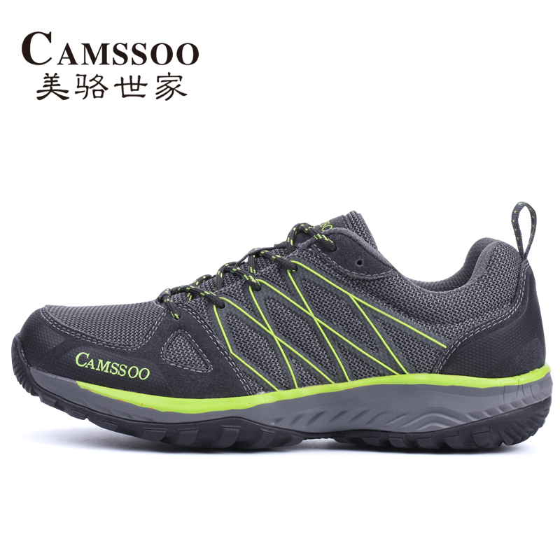 CAMSSOO Men's Sports Mesh Outdoor Hiking Trekking Shoes Sneakers For Men Breathable Climbing Mountain Shoes Man High Quality yin qi shi man winter outdoor shoes hiking camping trip high top hiking boots cow leather durable female plush warm outdoor boot