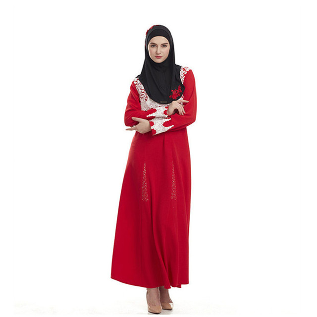 76266c0b0a New design red color Muslim Islamic hot Women stylish Maxi Dresses Turkish  Arab arabic Robes gown HSZ006