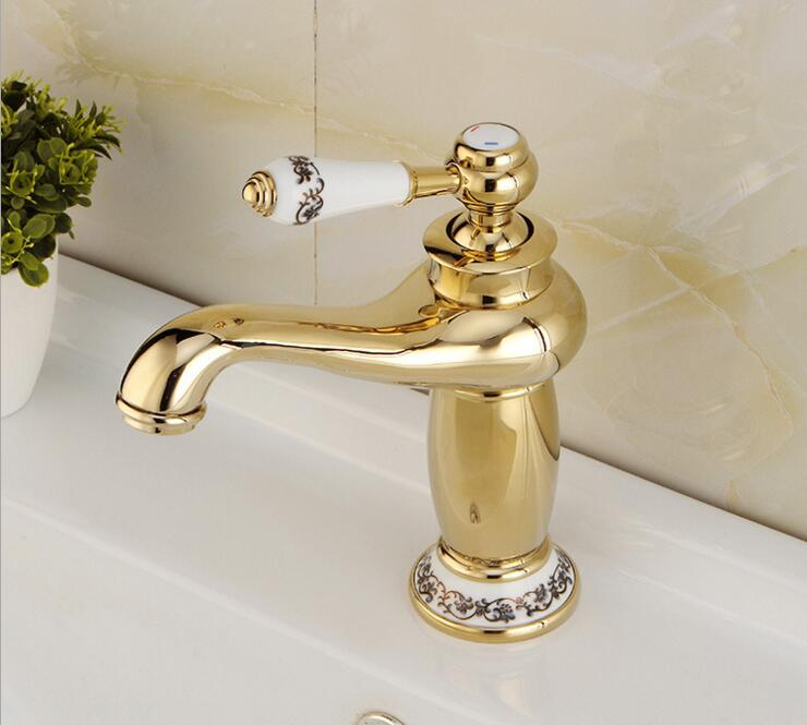 Free shipping Contemporary Concise Bathroom Faucet Antique bronze finish Brass Basin Sink Faucet Single Handle water tapsXKX5001 contemporary concise bathroom faucet antique bronze gold finish basin sink faucet single handle water tap