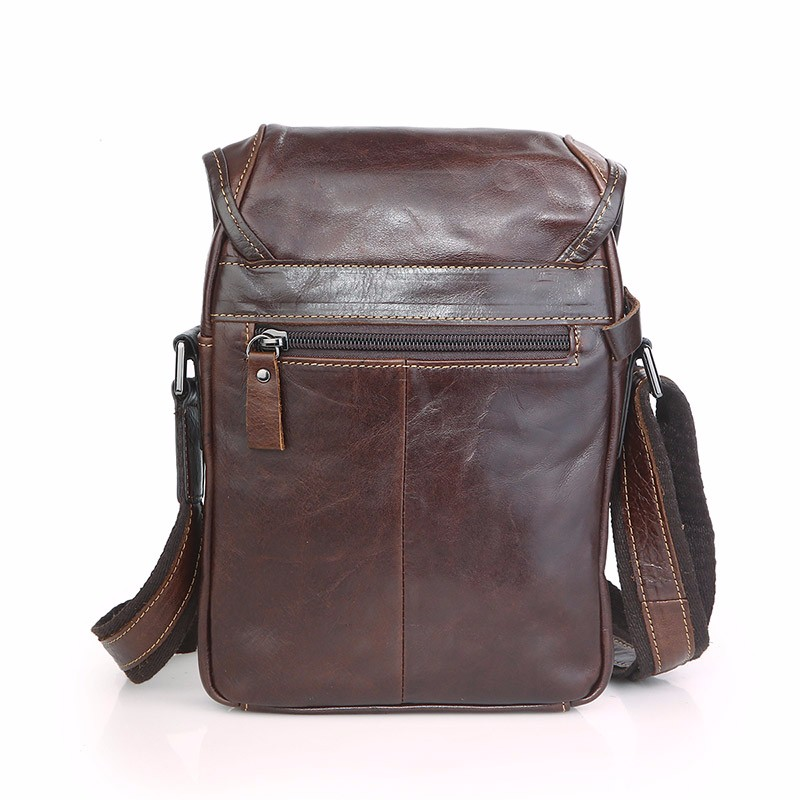 Engagement & Wedding Patchwork Men Genuine Leather Chest Bag Back Pack Mens Messenger Bags Vintage Unbalance Male Shoulder Sling Bag Li-1587