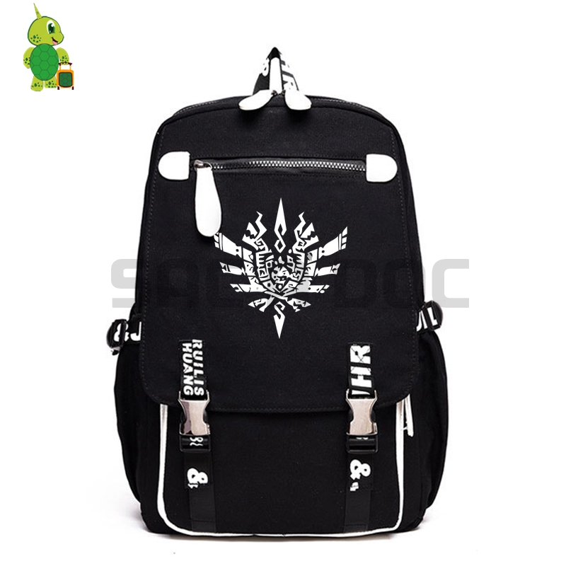 Monster Hunter Backpack Luminous School Teenage Girls Boys Laptop Backpack Travel Shoulder Bags