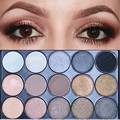 11 Cores Shimmer 4 Cores Mate Paleta de Maquiagem Profissional Eyeshadow Palette Cosméticos Tom Da Terra Da Sombra de Olho paleta
