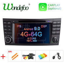 DSP IPS 4G 64G Android 9.0 2 din car DVD player For Mercedes Benz E-class W211 E200 E220 E300 E350 E240 E270 E280 CLS CLASS W219(China)