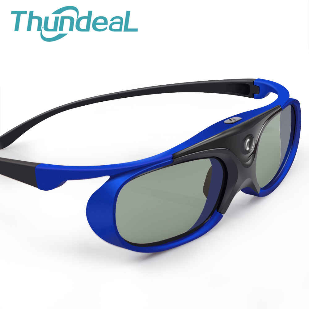 Thundeal Universal Active Shutter 3D Glasses rechargeable DLP Projector 96-144Hz For Optoma BenQ Acer XGIMI All DLP Home theater moacc newest economical universal 3d active rechargeable shutter glasses for mitsubishi samsung acer benq optoma dell vivitek nec sharp viewsonic dlp link dlp link projector and 3d ready dlp hdtv