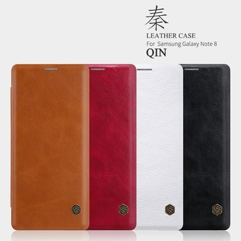 Nillkin for samsung galaxy note 8 case cover Vintage Qin Wallet Flip PU leather back cover for galaxy note 8 cases 1PCS