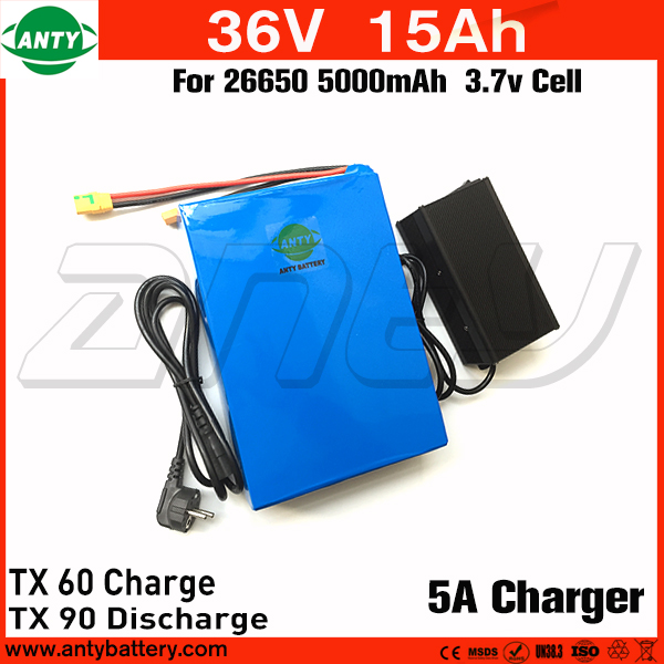 36v 15Ah e Bike Battery for 800w Motor Power with 42v 5A Charger Built in 30A BMS Scooter Lithium Battery 36v Free Shipping free customs taxes super power 1000w 48v li ion battery pack with 30a bms 48v 15ah lithium battery pack for panasonic cell