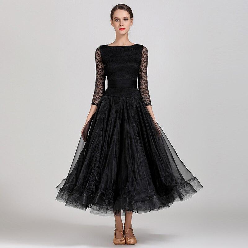 Modern Dance Costume Women Ladies Dancewear Waltzing Tango Dancing Dress Ballroom Costume Evening Party Dress