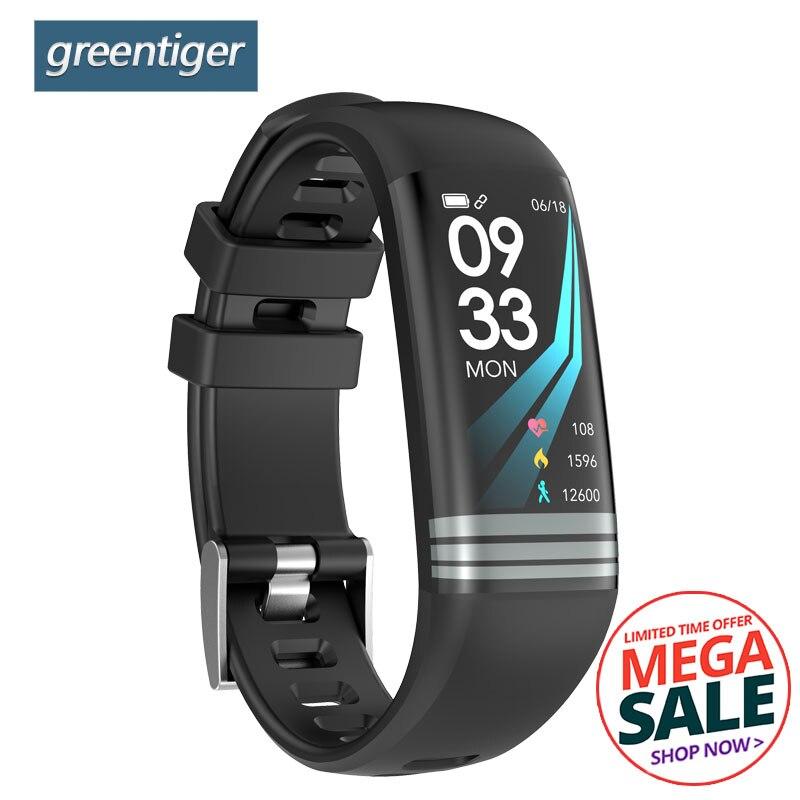 Greentiger G26 Plus Smart Bracelet Color Screen Fitness Activity Tracker Waterproof Smart Wristband Blood Pressure Smart Band id118 plus smart wristband fitness