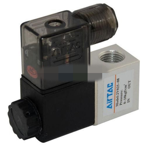 uxcell AC 110V 2 Way 2 Position 1//4 inches PT,Pneumatic Air Electric Control Solenoid Valve,Normally Closed,Red Light,2V025-08
