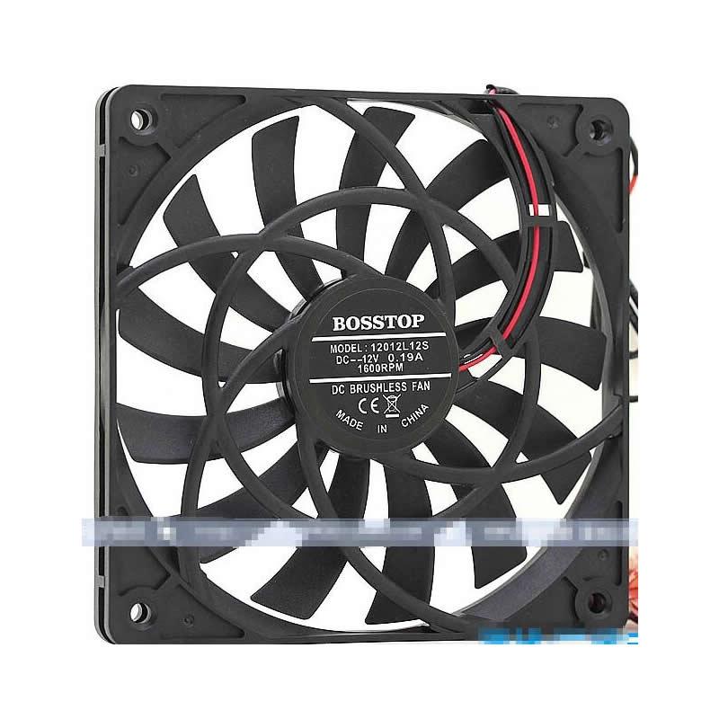 12mm Ultra Thin Fan 120x120x12mm 12cm 120m Fan 12V DC Cooling For Computer Case, Original BOSSTOP 1212S12S 12012
