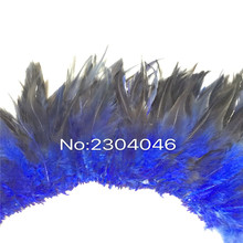 5-6 inches high (12-14CM) feather dyed navy blue decorative craft, 800-900 Root