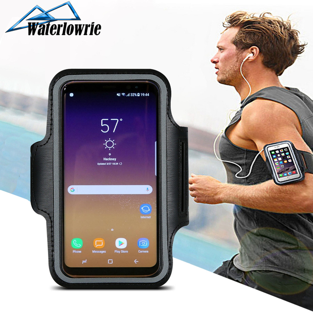 Mobile Arm band Case Sports Hand Bag Running Phone Cover For Samsung Galaxy A50 J5 A5 S6 S7 S8 S9 S10 Note 8 9 Arm Strap Holder