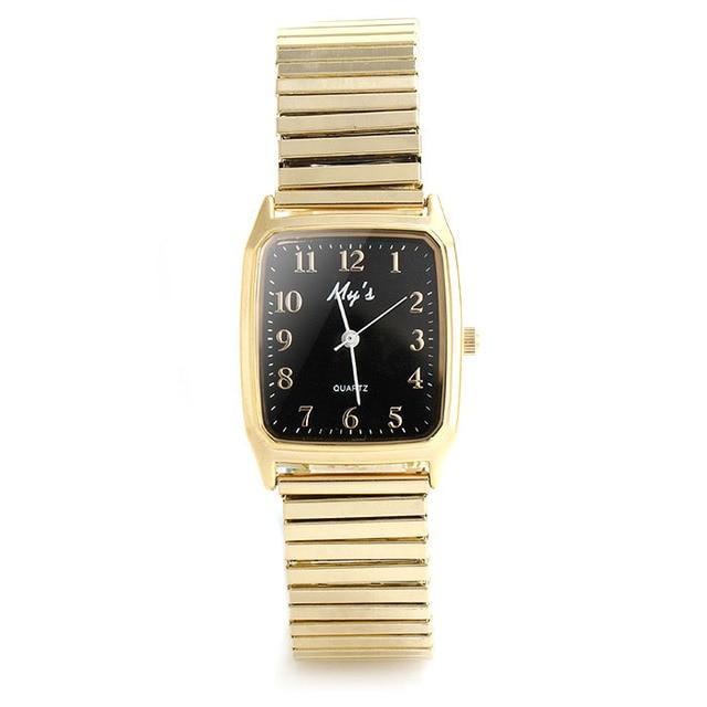 2016 New Fashion Watch Women Elastic Steel Strap  Casual Quartz Wristwatch Luxury Elegant Style Analog Clock