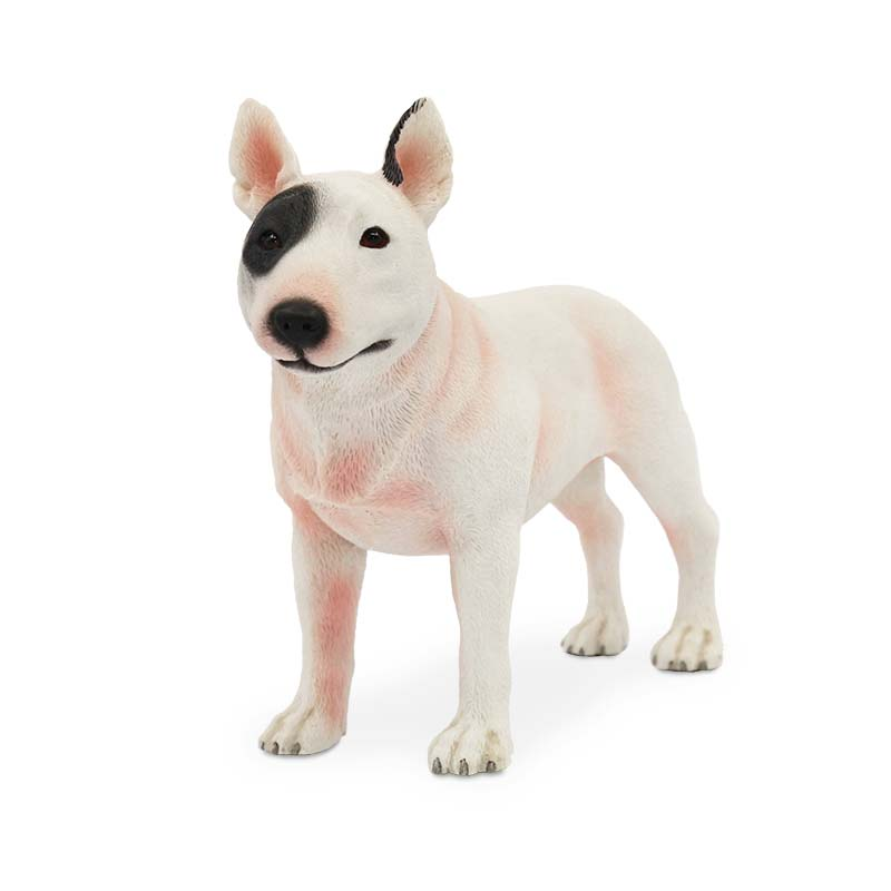 Mnotht 1/6 Bull Terrier Dog Model Model Anmial Dog Pet Sculpture - Խաղային արձանիկներ - Լուսանկար 3