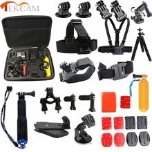 For Gopro Accessories set for go pro hero 5 4 3 hero4 session kit mount for SJCAM SJ4000 xiaomi yi 4k plus eken h9/h9r tripod