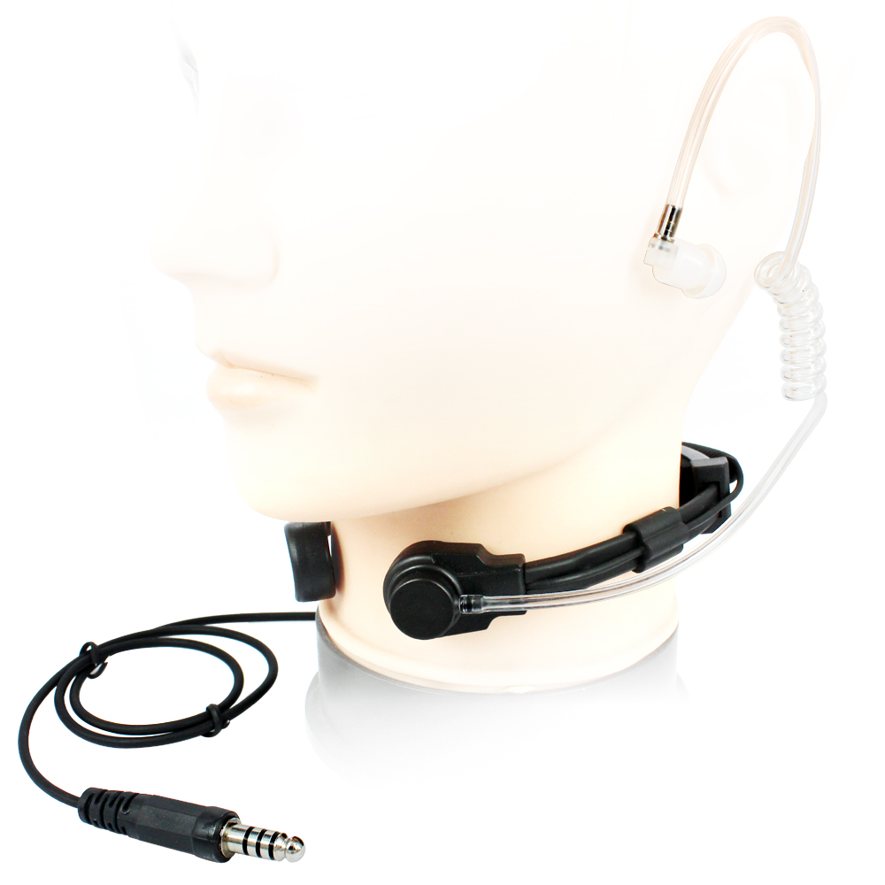 NATO Plug Telescopic Tactical Throat Shock Mic for Walkie Talkie 8