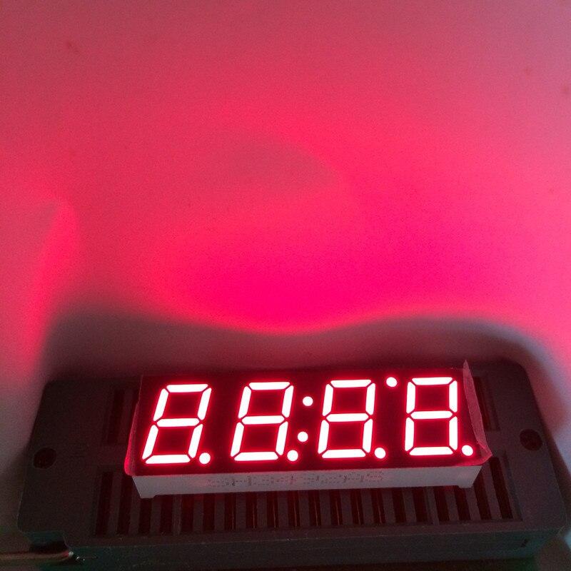10pcs 7Segment Display Afficheur 4Digits LED Clock 7 Segment Display 0.39 Inch Cathode Common 4 Digital Clock Segmentos 0.39 RED