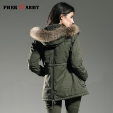 Winter Jacket Coats Parkas Outerwear Cotton-Padded-Jackets FREEARMY Thick Women Medium