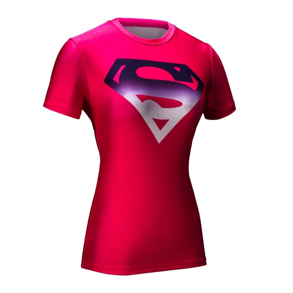 Mujeres de La Armadura T-shirt Superhéroe Marvel Superman Medias de Compresión C