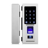 Electronic Digital Fingerprint Glass Door Lock with Touch Keypad For Frameless Glass Door