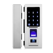 Touch keypad Digit Electric Glass door Fingerprint Lock For Frameless Glass Door Fingerprint / Password Code / RFID Card Unlock