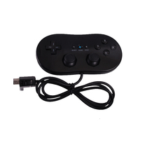 2015 hot sale 1pcs/lot Free Shipping Classic Wired Gamepad VIDEO GAME Controller for Nintendo Wii and Gamecube Black O2