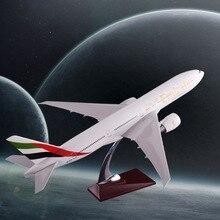 47cm Resin Boeing 777 Flygplansmodell Förenade Arabemiraten Airlines International Airways Modellflygplan Modellresor Souvenir