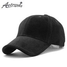 AETRENDS Luxury Brand Cotton Velvet Baseball Caps for Men Women Sport Hats Hat Trucker Cap