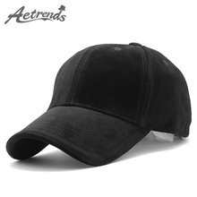 1814e44377c  AETRENDS  Luxury Brand Cotton Velvet Baseball Caps for Men Women Sport Hats  Hat Trucker