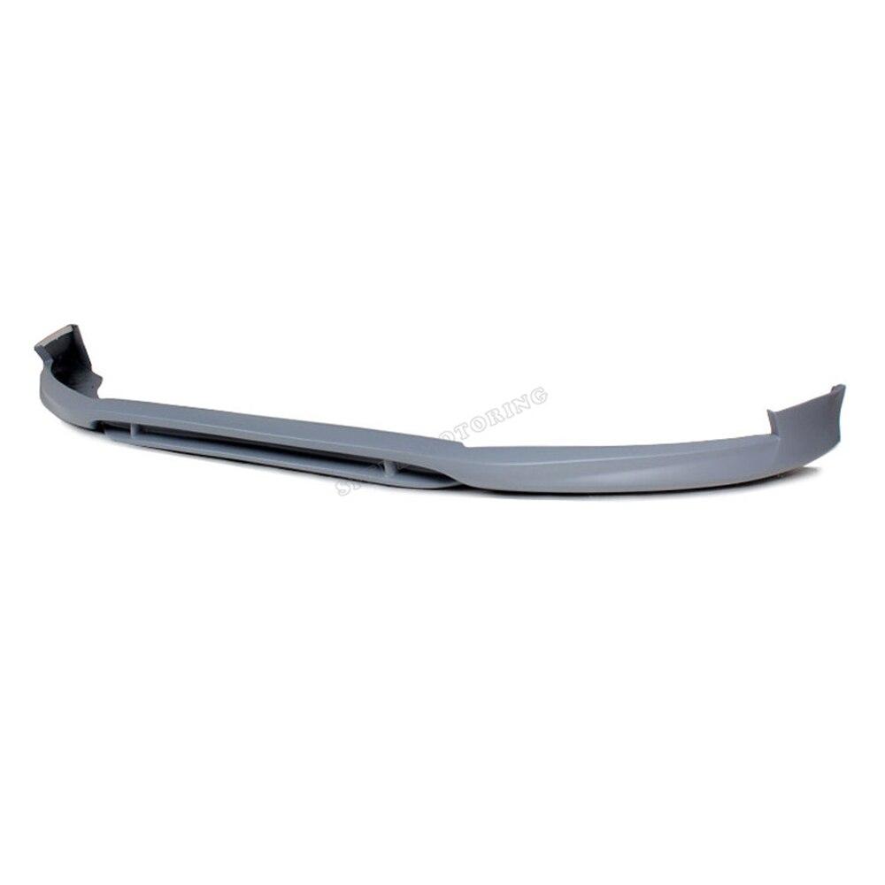 Unpainted grey primer PU A4 B9 front bumper spoiler lip Car front splitter lip For Audi (Fits 2013 A4 B9 Sedan standard bumper ) asus vx279q black