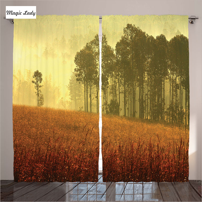 Curtains yellow gray orange house decor collection misty - Grey and yellow living room curtains ...