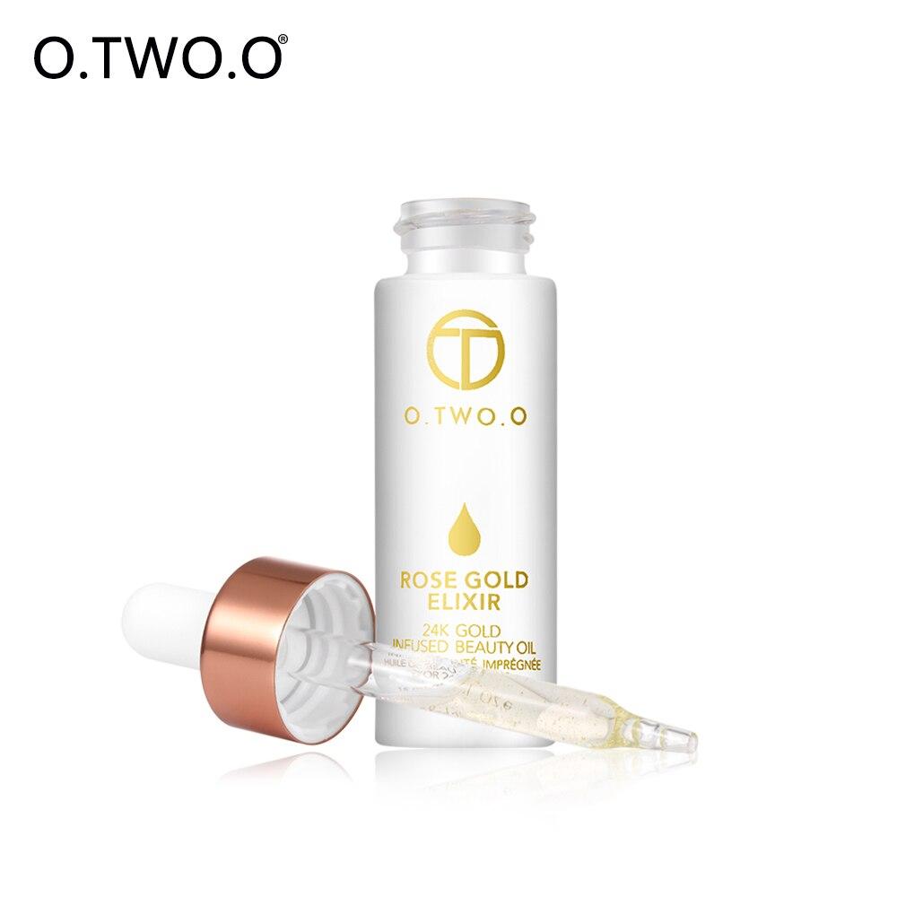 O. DEUX. O 24 K Rose Or Infusé Beauté Huile Elixir Peau Maquillage Huile Pour Le Visage Essentiel huile Avant Amorce Hydratant Anti-vieillissement