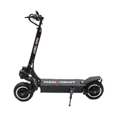 Nanrobot RS2 Электрический скутер для взрослых 11»60v 23.4AH 2400 W Портативный складной Съемное Сиденье 40 миль в час, 55 км Диапазон 2 колеса kick