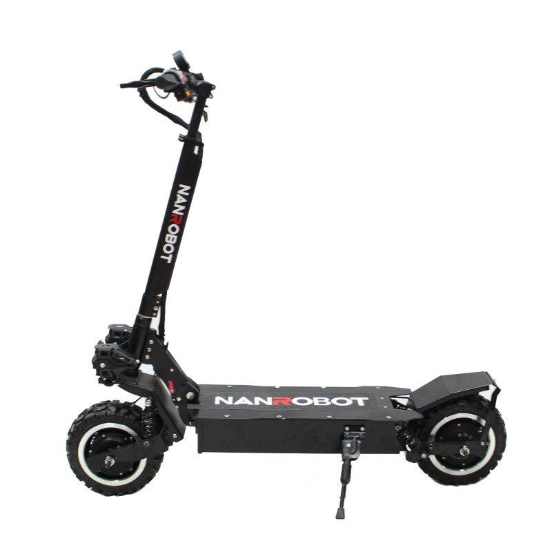 NANROBOT RS2 adultes Scooter électrique 11''60V 23.4AH 2400 W Portable siège amovible pliable 40 mi/h 55 Miles gamme 2 coups de roue