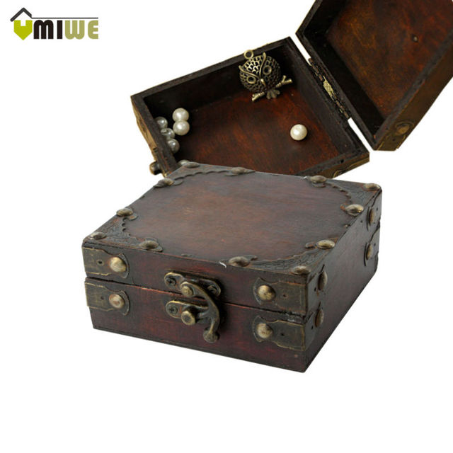 Umiwe High Quality Portable Women Brown Retro Old Stye Unique Wooden