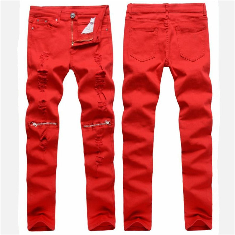 Direct selling foreign trade Men Fashion jean Pants Mid Waist Straight Jeans Cotton Stretch Trousers Leisure brand Skinny Jeans the ropes to skip and the ropes to know