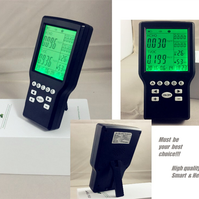 Free shipping Smart USB Recharege  air quality tester monitor  detector formaldehyde, VOC detector,from OHMEKA