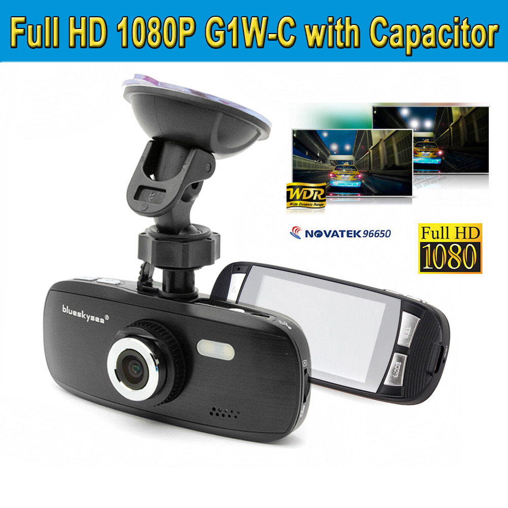 Blueskysea car dvr fhd 1080p g1w c with capacitor car dash camera dvr nt96650 chip