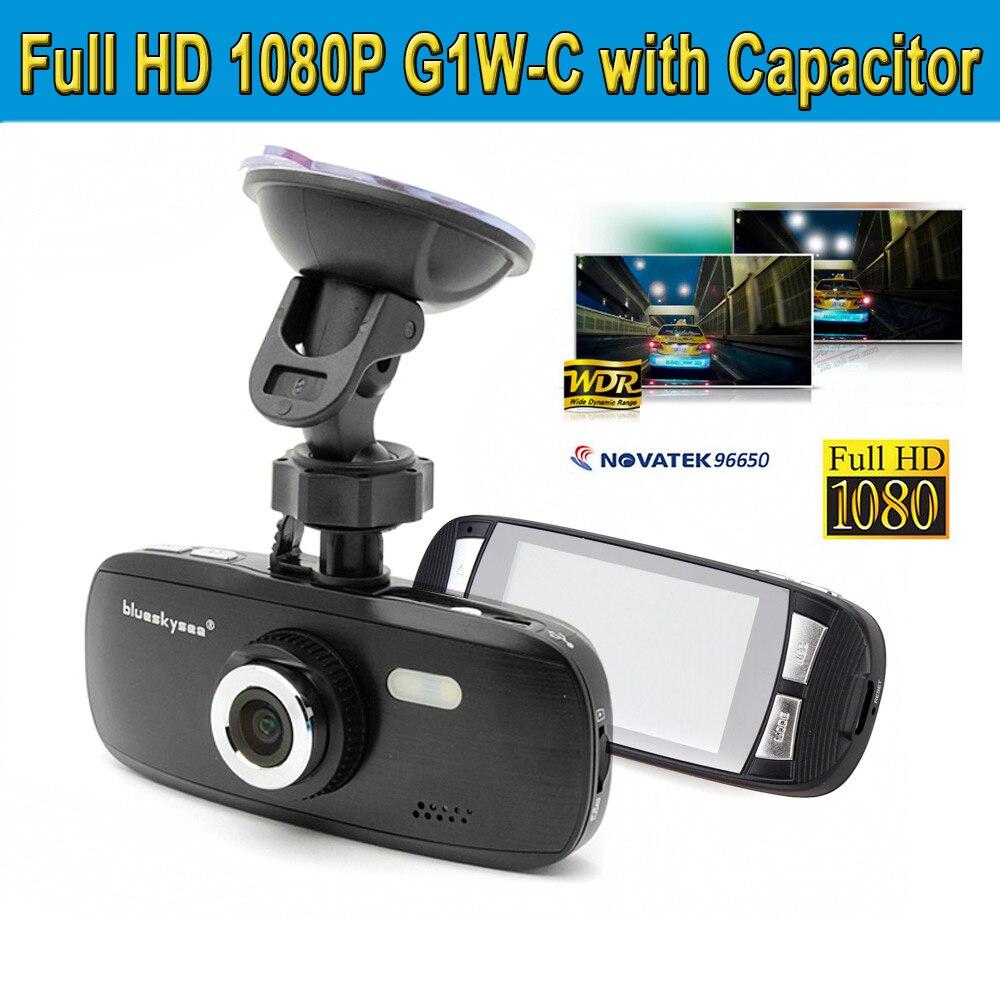 Free Shipping Blueskysea FHD 1080P G1W C With Capacitor font b Car b font Dash Camera
