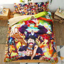 One Piece 3D bedding set Monkey D. Luffy Duvet Covers Pillowcases ONE PIECE Roronoa Zoro Portgas.D. Ace comforter sets