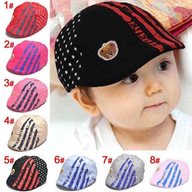 Newborn photography props cotton baby flat cap beret 0-2 years baby boy hats  for girls infant accesorios fotografia 71dc9461e7e