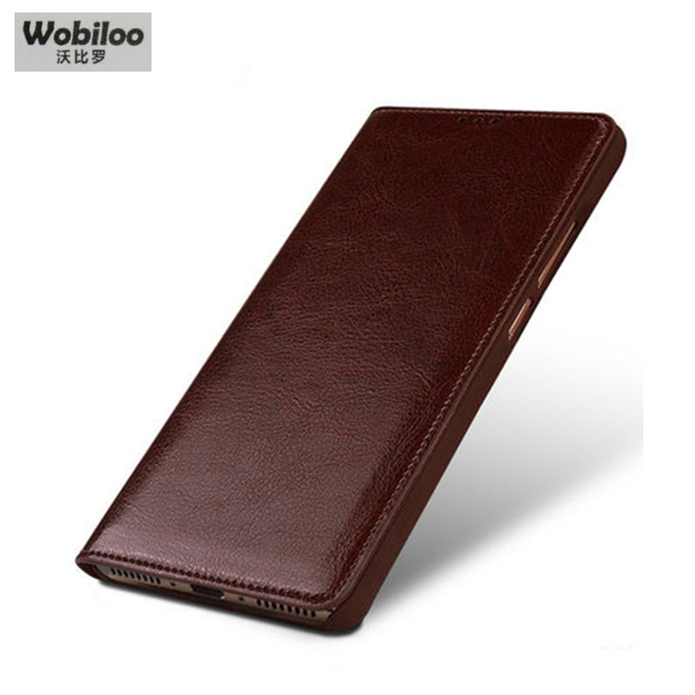 Buy Wobiloo Original Cow Leather Case for ZTE Nubia Z11 Mini S Fashion Phone Protection Flip Cover Bag for Nubia Z11 MiniS 5.2