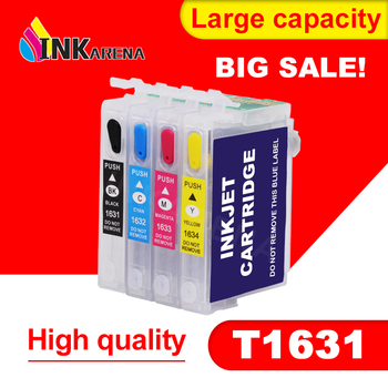 Cartucho de tinta 16 16XL para impresora Epson Workforce WF-2010W WF-2510WF WF-2520, WF-2530WF T1631 T1634 T1621 con Chip de reinicio