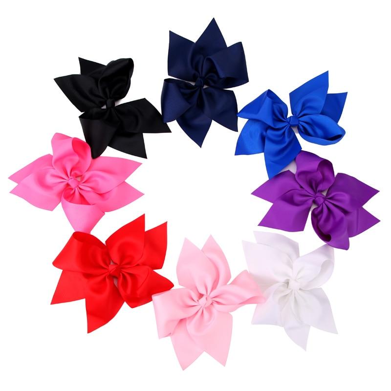 1PC 10 Inch Geniş Grosgrain Ribbon Bow Barrettes Qızlar Butik - Geyim aksesuarları - Fotoqrafiya 6