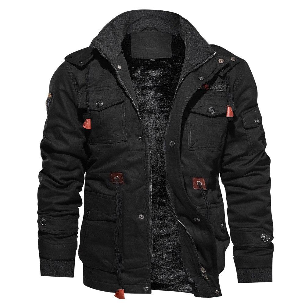 2019 Large Size Men s Winter Jackets Thick Hooded Coat Military Pilot Jacket Outerwear Winter Jacket Innrech Market.com