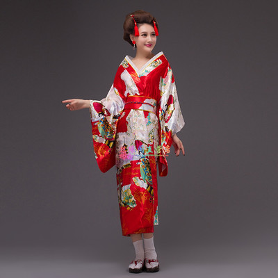 Albornoz formal ropa tradicional traje tradicional del japonés kimono haori  Obi yukata satinado vestido de noche flor en Prendas de Vestir de Asia y de  Las ... bd6fedd0d2a6