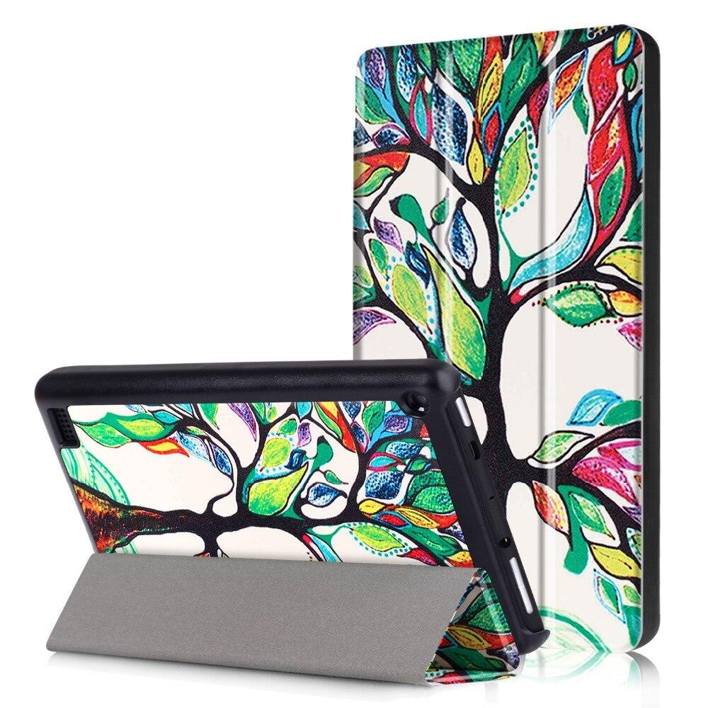 Fogo 7 caso para todo-novo amazon fire 7 tablet 7th geração versão capa de impressão colorida para fogo 7 polegada funda