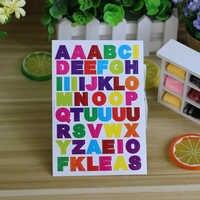10 blätter/pack Brief Aufkleber Alphabet Aufkleber Scrapbooking Dekoration Name Aufkleber Fotoalbum Decor Planer Decals Kinder Spielzeug