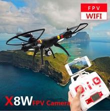Free Shippping X8W RC helicóptero Zangão Wi-fi Em Tempo Real de Vídeo 2.4G 4ch 6 Eixos com Câmera de 2MP RC Quadcopter VS X5C x600